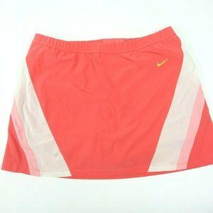 Mesh Elastic Coral Pink Tennis Golf Skirt Skort